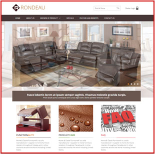 Web design project, furniture website