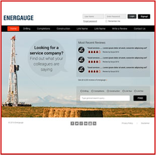 Oil & Gas website design, oil websites, web design calgary