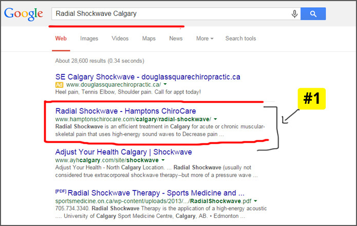 SEO result, seo result for chiropractor, chiropractor seo calgary