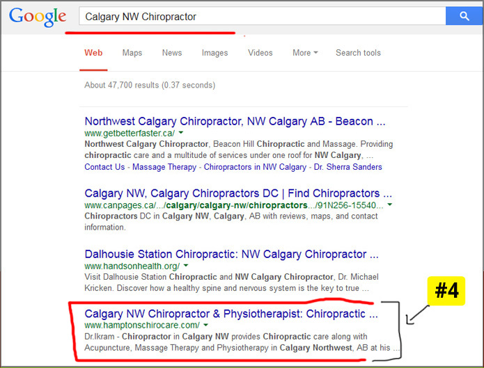 calary chiropractor search engine optimization